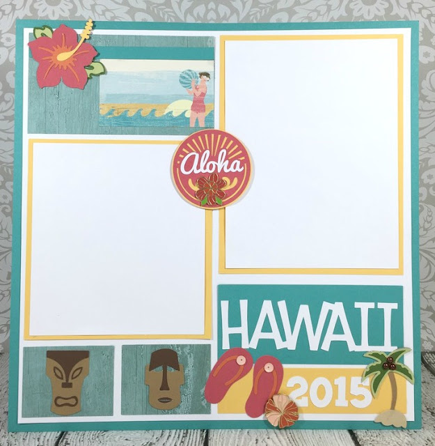 Cricut Hawaiian Vacation Layout
