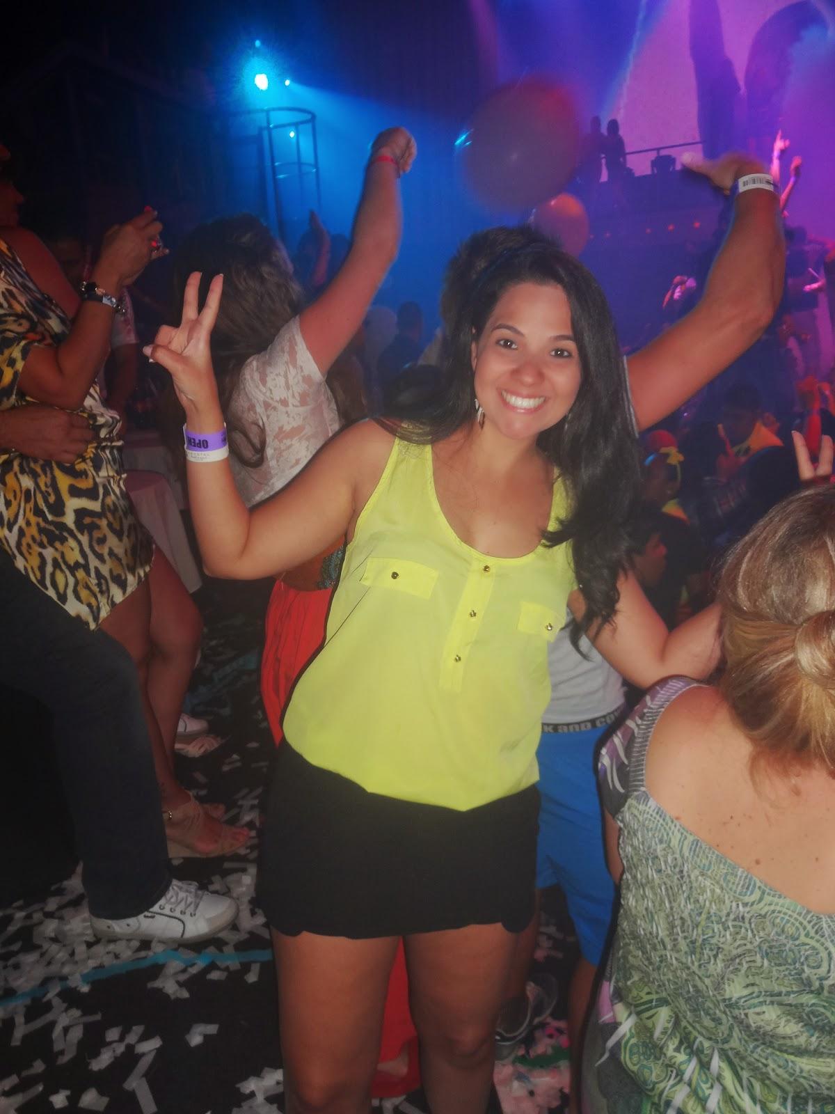 dentro da boate CocoBongo - Cancún