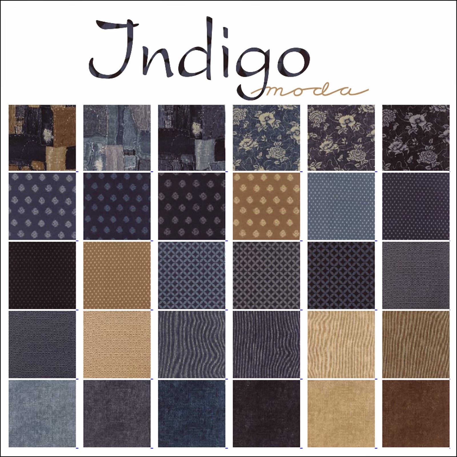 Moda INDGO Quilt Fabric by Moda Fabrics