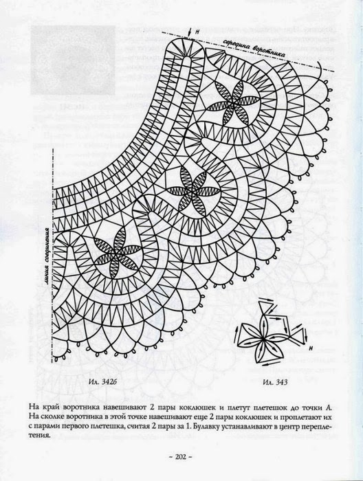 Схемы вязания вологодского кружева 36