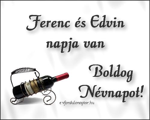 Október 4 - Ferenc, Edvin névnap