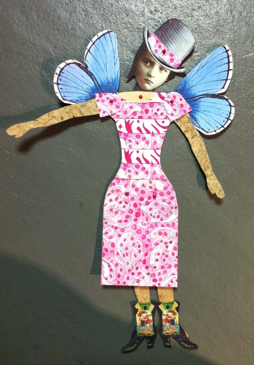 Linda Edkins Wyatt Semi Steampunk Paper Doll With Beet