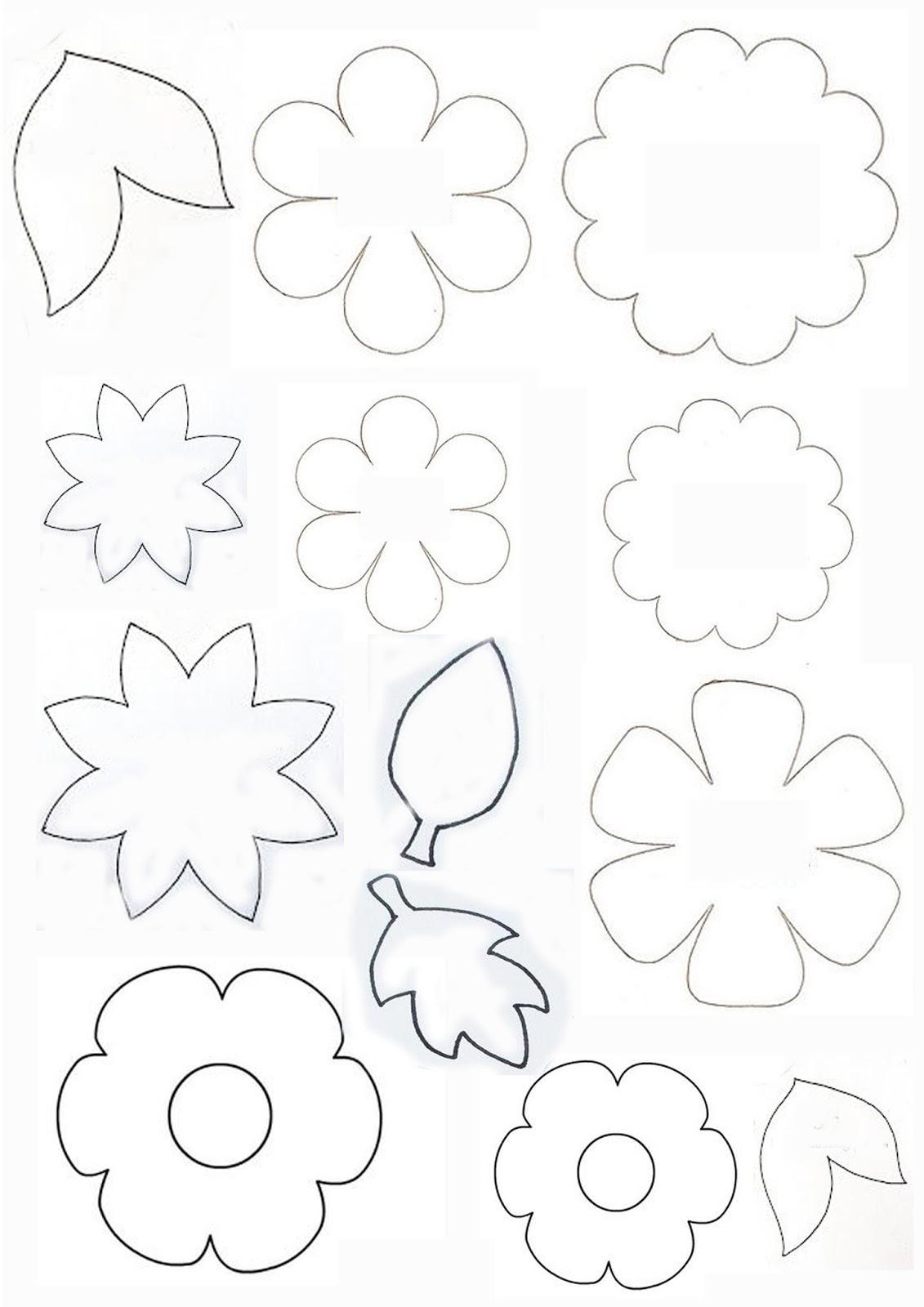 Nella valigia della buru cartamodelli per fiori e foglie for Primule da colorare