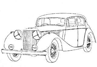 Disegni da colorare di auto d'epoca