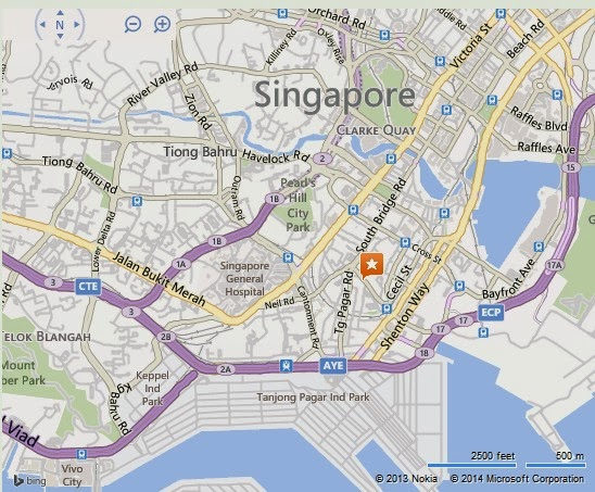 Detail Singapore City Gallery Location Map – Tourist Map Of Singapore City