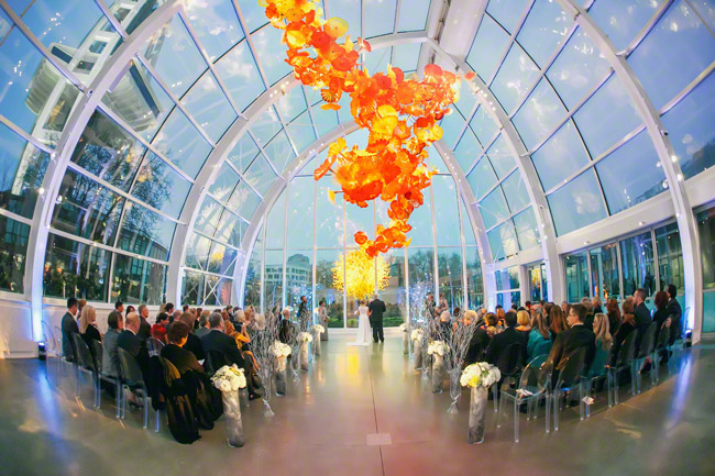 wedding at chihuly garden and glass seattle
