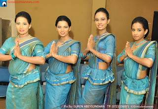 sl girls in saree