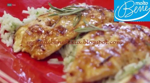Pollo allo sciroppo d'acero con riso basmati al lime ricetta Parodi per Molto Bene