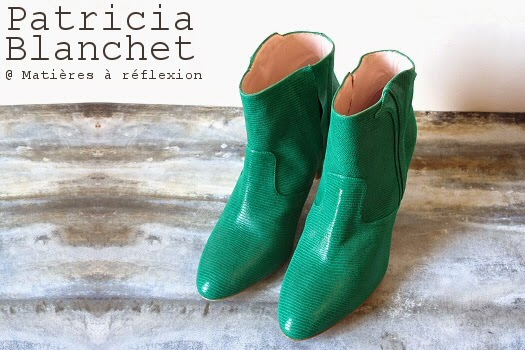 Bottines cuir Patricia Blanchet chaussures Reno boots vertes