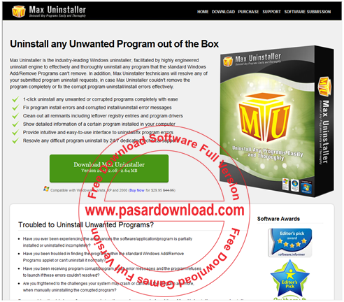 Download Max Uninstaller 3.0.0.1282 Full Serial