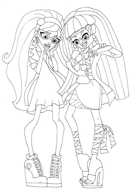 Mad science coloring pages for Monster high coloring pages 13 wishes