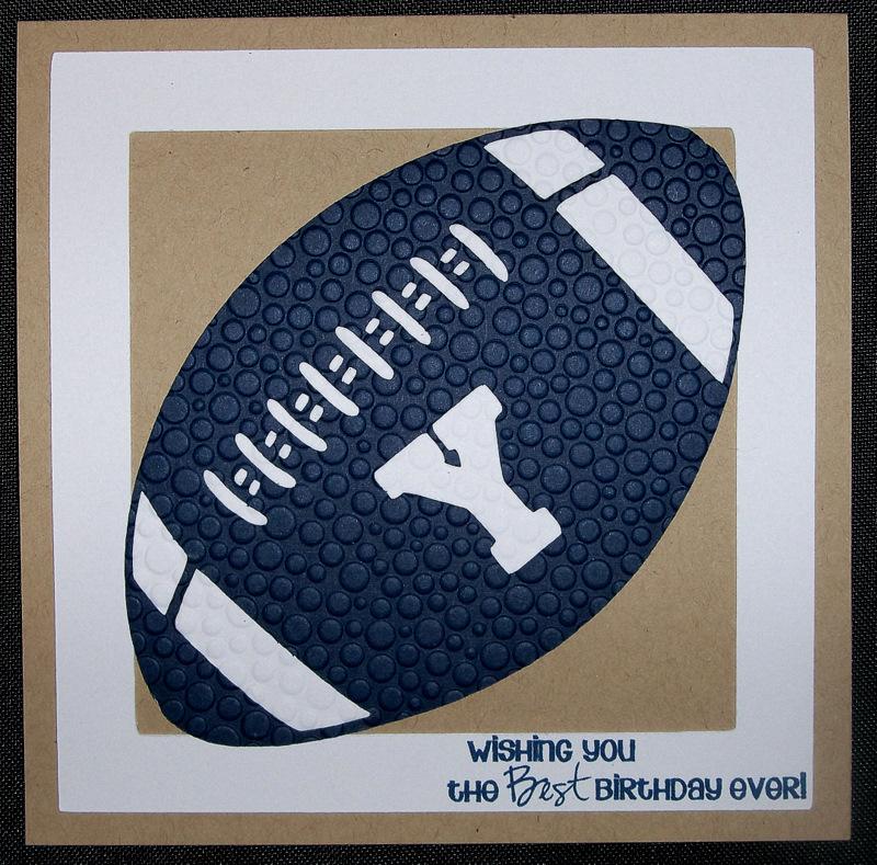 Gloras Crafts Football Themed Birthday Cards