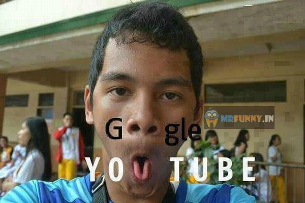 Google Youtube Funny Face