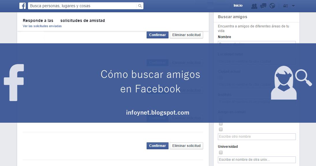 InfoNet: Buscar amigos en Facebook