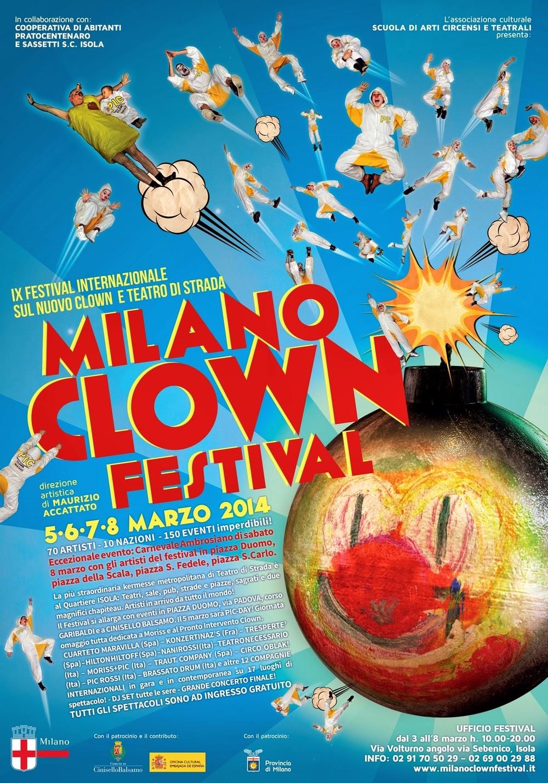 dal 5 a domenica 8 Marzo eventi gratis per il Milano Clown Festival