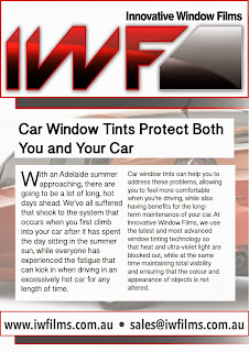 Car window tints keep your vehicle cooler and protect your upholstery from fading