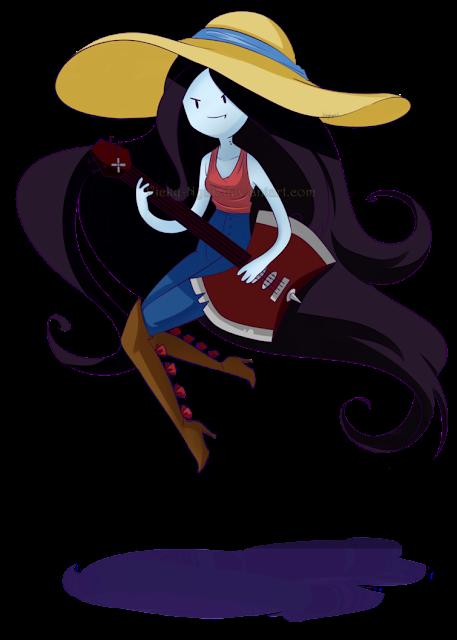 Desenho Marceline Hora de Aventura colorido