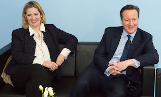 UK energy secretary Amber Rudd with Prime Minister David Cameron