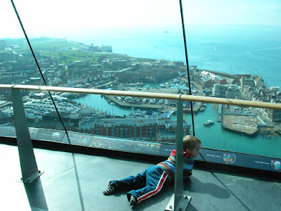 looking south to spice island old portsmouth from spinnaker tower