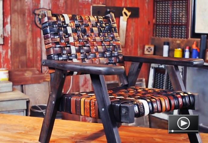 Sillas Renovadas con Cinturones Reciclados