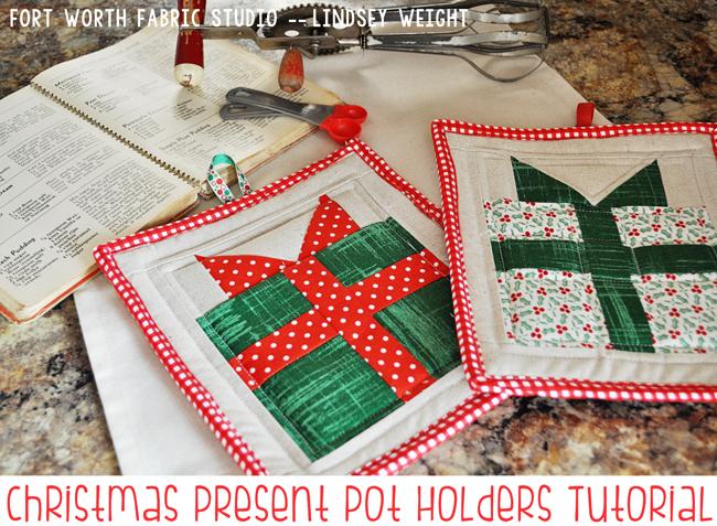 christmas pot holder tutorial