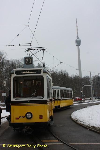 Fenster Bad Cannstatt : Wir aber fuhren mit der Linie 23 zum Fernsehturm Diese große Route [R