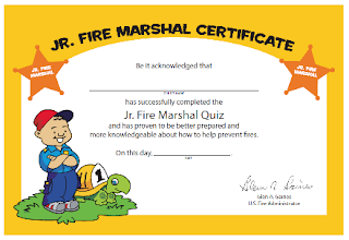 Free Jr. Fire MArshal Certificate