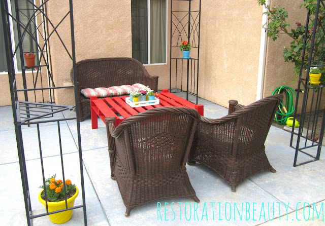 $45 Back Patio Makeover 2013