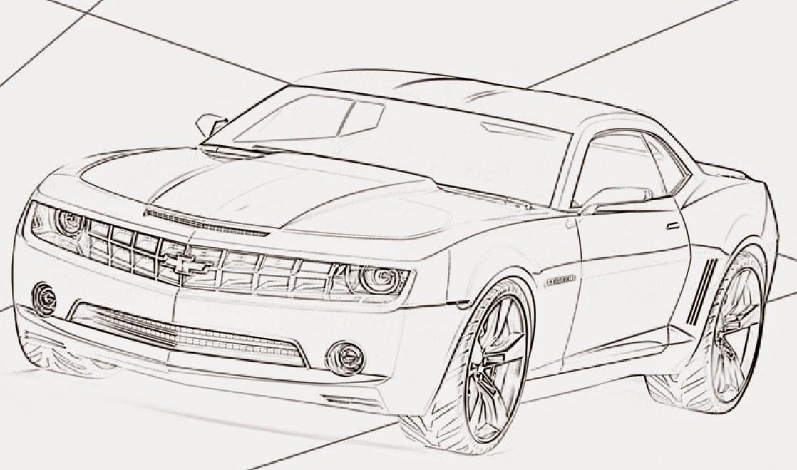 Desenhos para pintar Carros da Hot Wheels