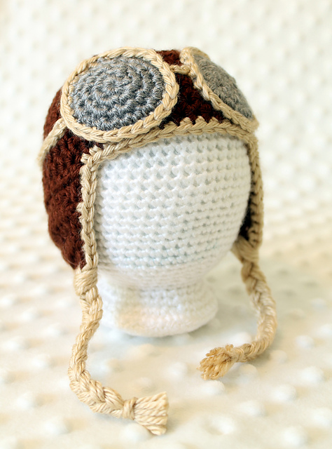 Crochet Newborn Aviator Hat Pattern : Hopeful Honey Craft, Crochet, Create: 10 Free Crochet ...