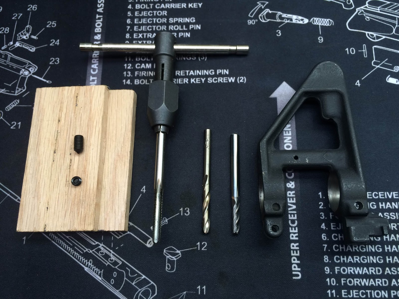 A Catholic Mechanic Diy A2 Front Sight Base Install Drill Press Is Preferable To Hand When Mcmaster Carr Part Number For High Speed Steel 10 32 Through Hole Tap 2522a779 496 Ea Short Length 21 Tin Coated Bit
