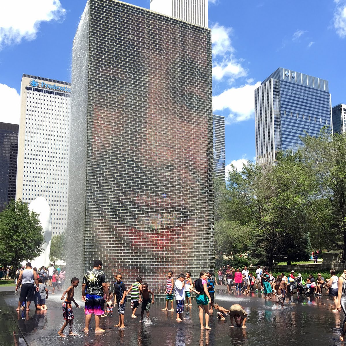 So cool! Jaume Plensa's Crown Fountain in Millennium Park.