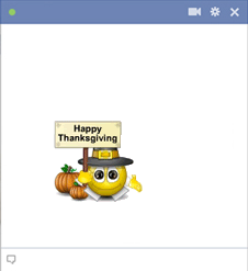 Emoticon for Happy Thanksgiving