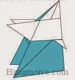Bước 13: Hoàn thành cách xếp võ si Sumo bằng giấy origami đơn giản.