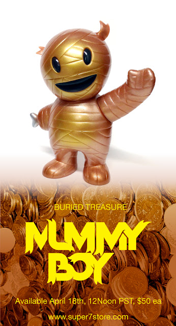 Buried Treasure Mummy Boy Vinyl Figure by Super7