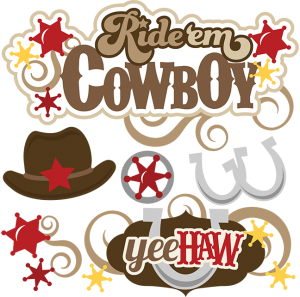 Ride 'Em Cowboy cut file set by Miss Kate Cuttables