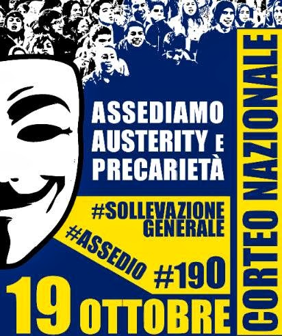 19 ottobre. Assedio all'austerity