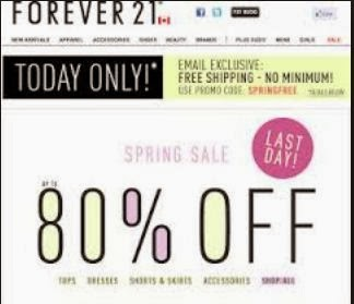 FOREVER 21 EU COUPON CODE