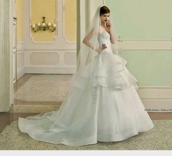 Suknie ślubne Vestido Suknia ślubna Z Falbanami Zakończonymi