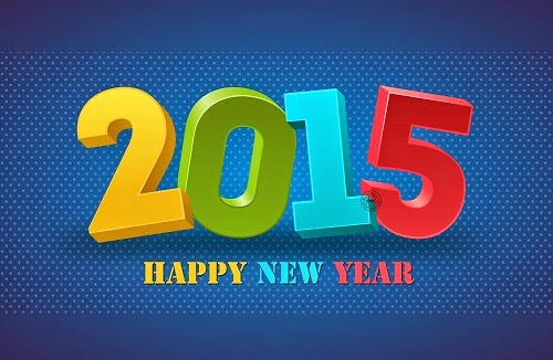 Happy New Year 2015 Wallpaper Multicolor Text