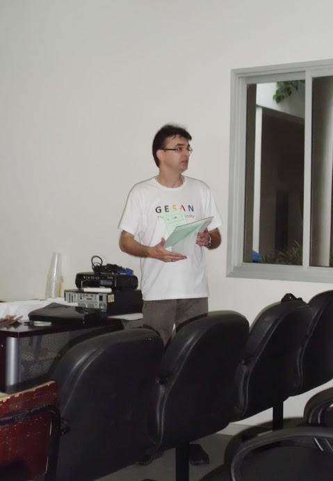 Abertura do II EIGESAN - Leitura da mensagem dos membros do GESAN-Juiz de Fora (MG) - Fev de 2012
