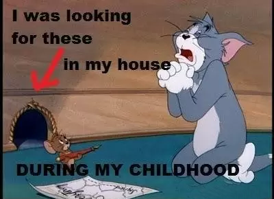 i used to look for jerry mouseholes in my house
