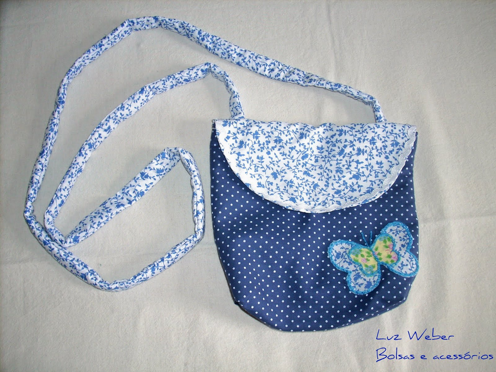 Bolsa Em Tecido Infantil : Luz weber molde de bolsa infantil a tiracolo