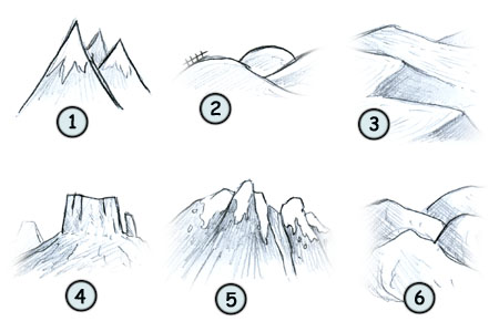 How to draw mountains 4
