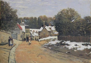 Sisley: Early Snow at Louveciennes