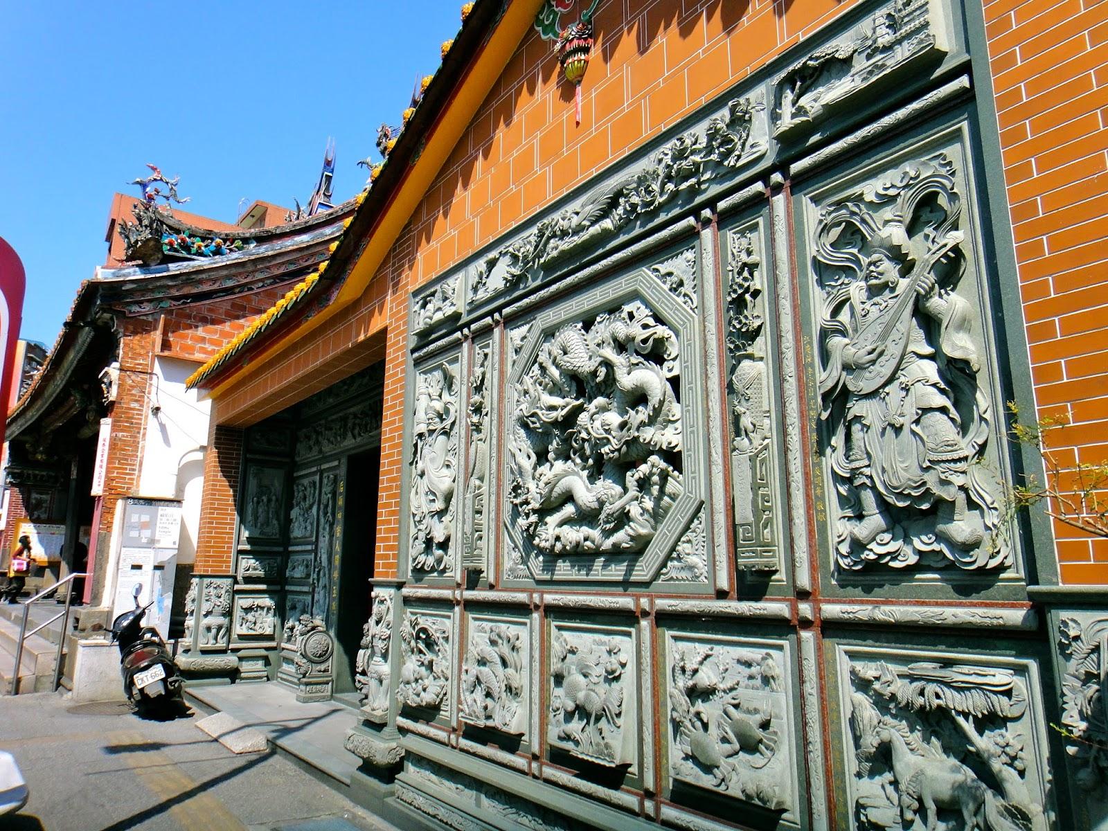 Tamsui Fuyou Temple Wall Mural Taiwan