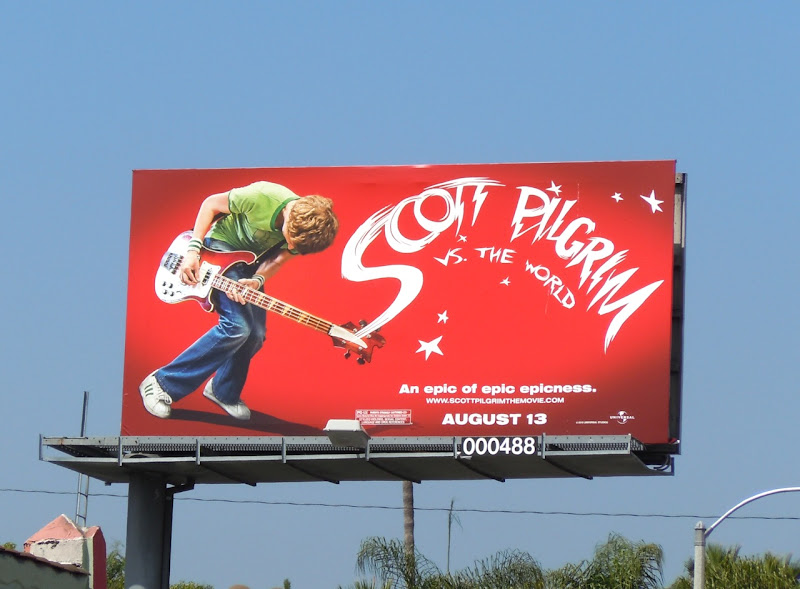 Scott Pilgrim vs The World billboard