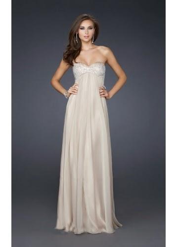 white long Elegant Prom Dresses For You
