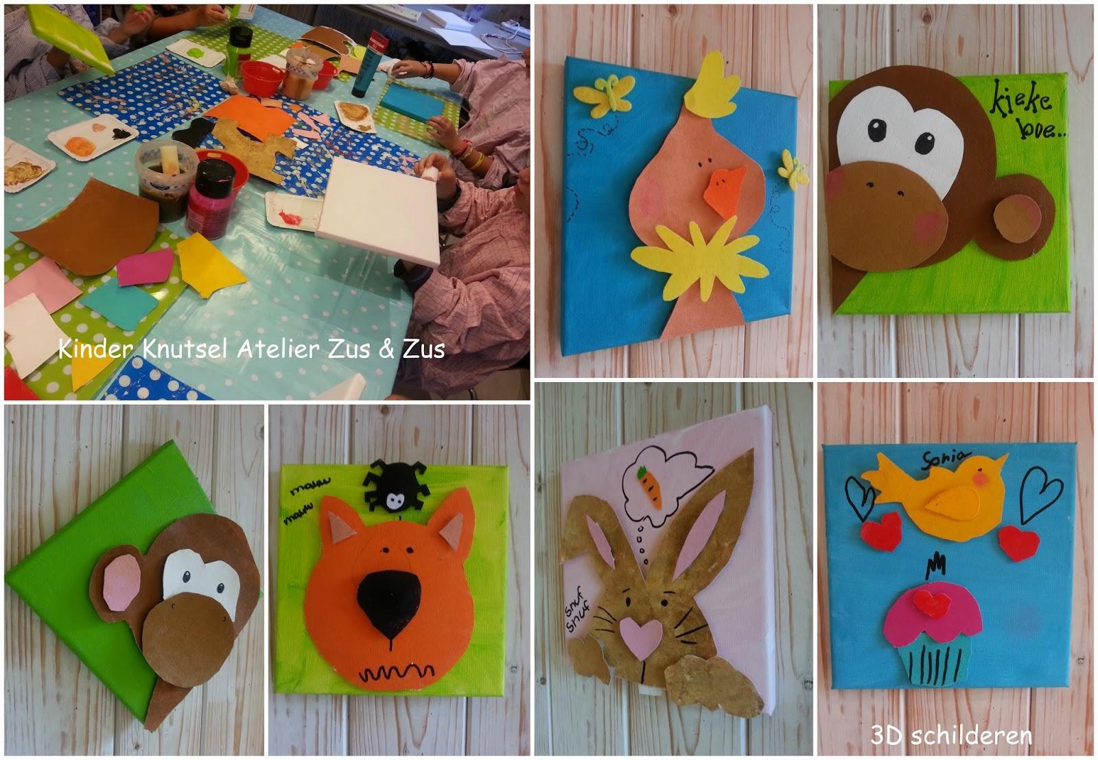 Zus zus kinder knutsel atelier 3d schilderen - Kinder schilderij ...