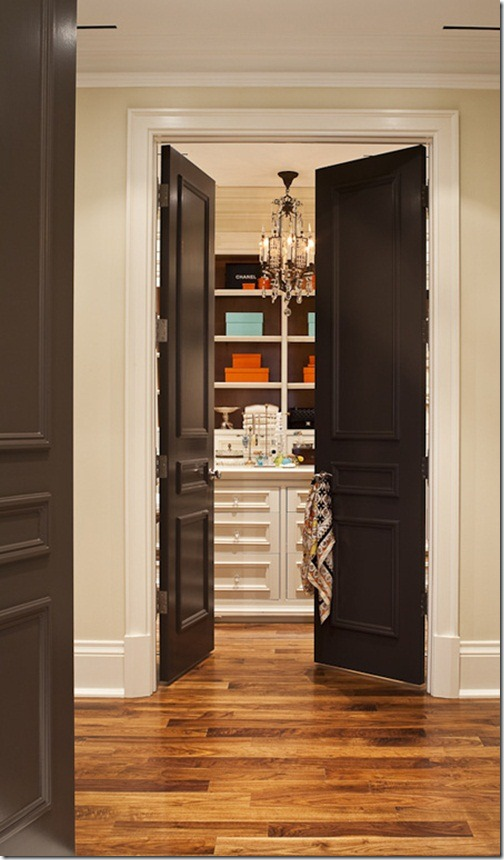 The design pages painting interior doors - Sophisticated black interior doors ...